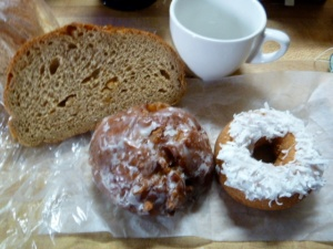 Limpa bread and donuts from Sarah Jane's Bakery in Minneapolis Minnesota