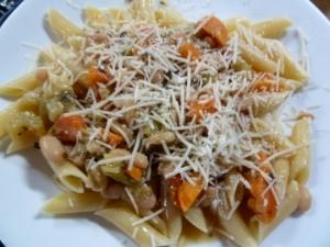 Fennel soup over Penne Pasta © CKatt 2013