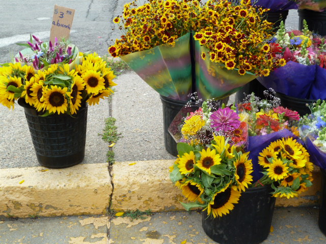 Sun Flowers Minneapolis Farmers' Market © CKatt 2011