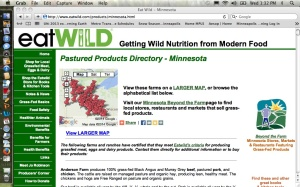 Minnesota Farms that produce grass fed animals and animal products as of  June 2014