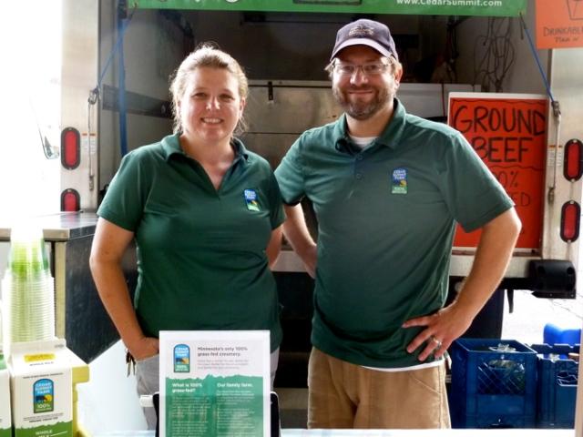 Natalie and Josh Kelly at the St Paul Farmers' Market © CKatt June 2014