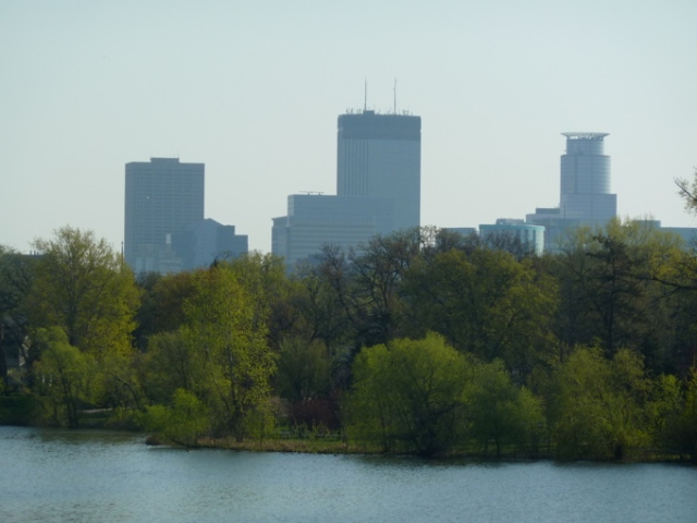 Early Morning Minneapolis Skyline from Lake of the Isles © CKatt