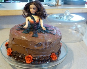 "Finished Chocolate Cake ""The Pirate Mistress"" © CKatt"