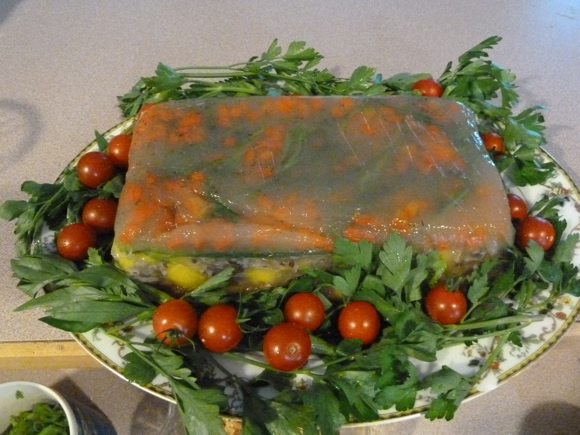 Vegetable Terrine in Aspic