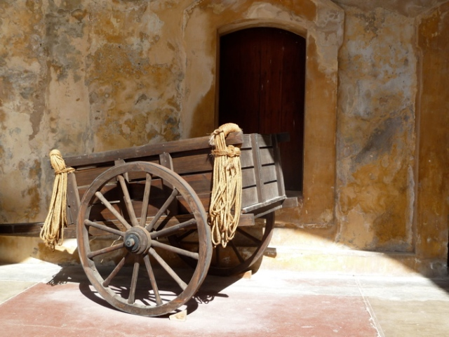 Antique Wagon at the Spanish Fort San Juan Puerto Rico Copyright CKatt 2014