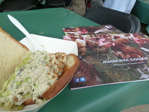 Minnesota Cooks calendar and Giggles Walleye Sandwich © CKatt 2014