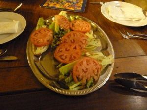 Grilled Romaine Lettuce with Fresh Tomatoes