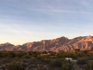Sunset view from the foothills