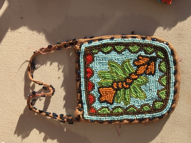 Beaded Native Purse possibly Woodlands tribe