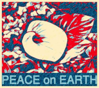 Peace on earth posterized