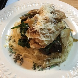 chicken with spinach pasta ckatt