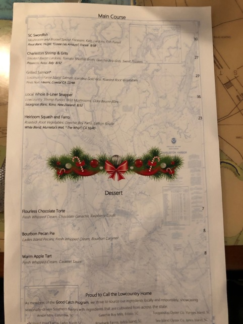 Fish House Menu 2 Charleston CKatt 12-25-19