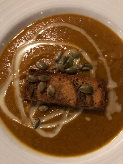Fish House Pumpkin soup Charleston CKatt 12-25-19