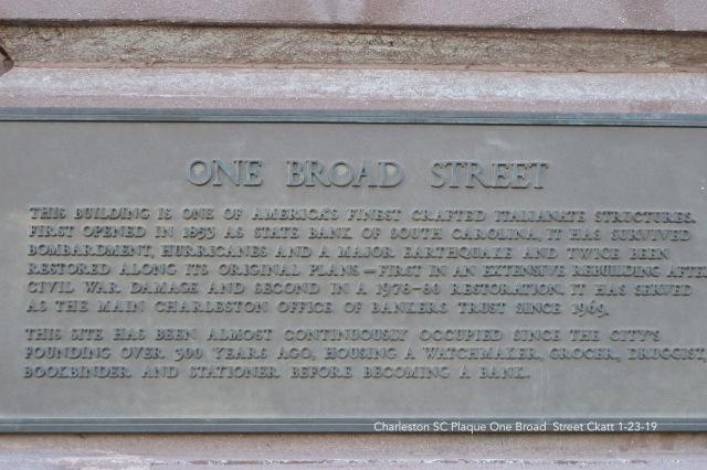 One Broad ST Plaque Charleston SC CKatt 1-23-19