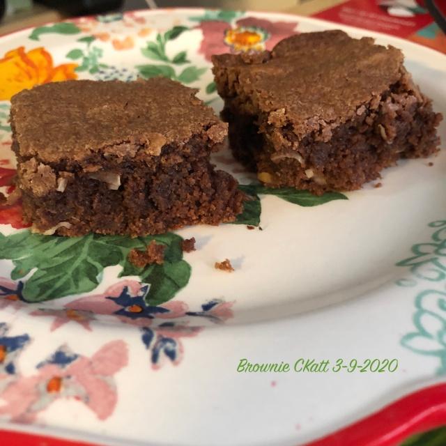 Brownie with coconut Ckatt 2-9-2020