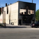 Fire Destroyed Bldg Front of Office blding